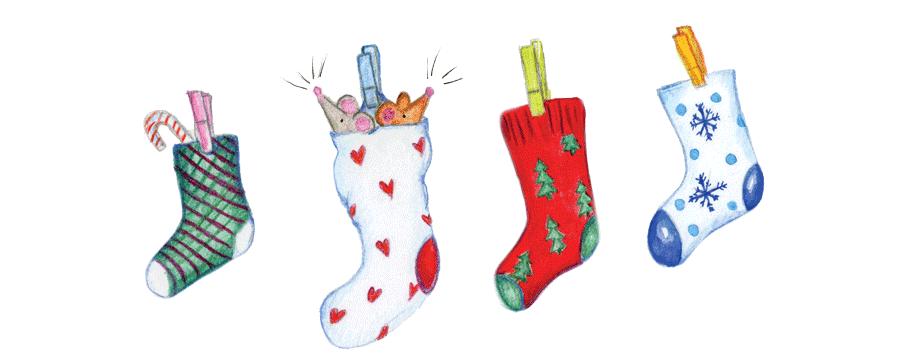 Santa Socks line of socks
