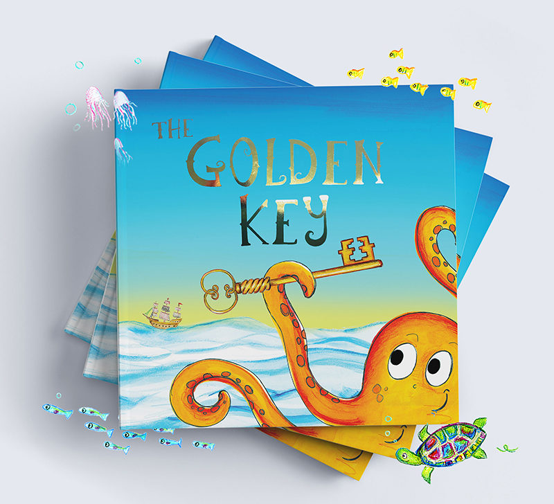 Stack of The golden Key a personalised children's book