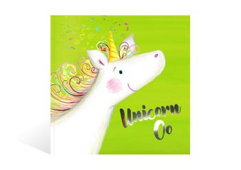 Front cover of the magical adventure book Unicorn Oo