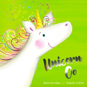Front Cover of the Fantasy Adventure Story Book Unicorn Oo