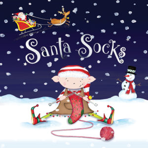 Front cover of the Christmas Adventure Story Book Santa Socks