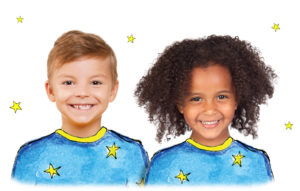 Children wearing magical pyjamas