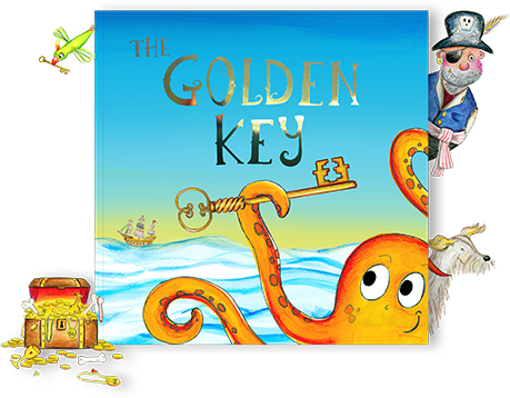 Bang on Books pirate adventure story book The Golden Key, front cover