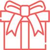 Icon displaying a gift box